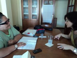 Wlad Lima e Dulce Martinho em entrevista na cidade de Aveiro.