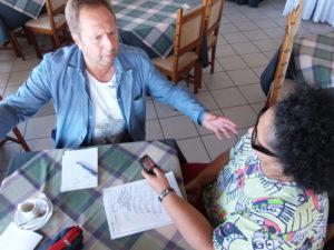 Wlad Lima e Pedro Rui em entrevista na cidade de Fermentelos.
