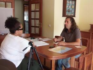 Wlad Lima e Pedro Lapa em entrevista na cidade de Aveiro.