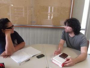 Wlad Lima e Pedro Corga em entrevista na cidade de Aveiro.
